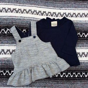First Impressions Shirt & Jumper Dress Set 0-3M